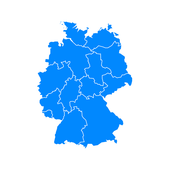 Germany map outline icon. Geography vector illustration in flat