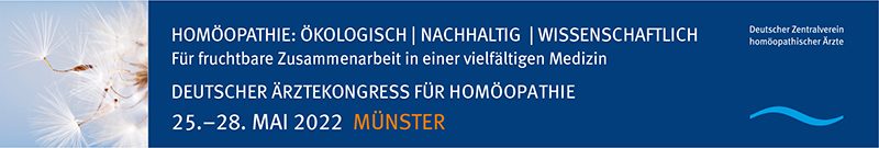 Deutscher Ärztekongress für Homöopathie | Hybrid | 25.-28.05.2022